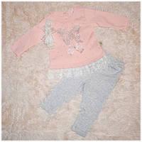Костюм для девочки кофта+штанишки и повязка BEBICO размер  62 68 74 80