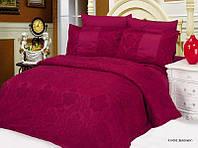Комплект жаккардового постельного белья Le vele Favore-burgundy