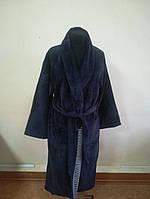 Махровый мужской халат темно синего цвета (XXL), фото 1