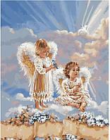 Набор для рисования Ангелочки с цветами (BK-GX21565) 40 х 50 см [Без коробки]