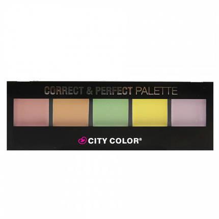 Палитра корректоров City Color Correct & Perfect Palette, фото 2