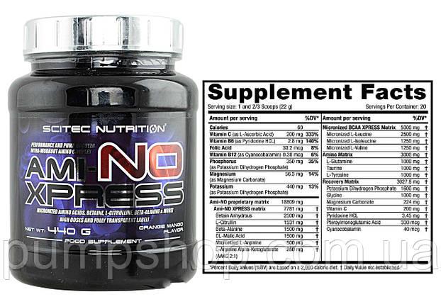 Аминокислоты Scitec Nutrition Ami-No Xpress 440 г, фото 2