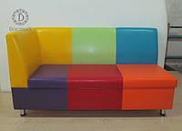 Яркий диванчик для детских учреждений садиков, детской комнаты