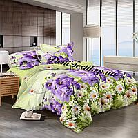 Комплект постельного белья Семейный Сатин 100% хлопок