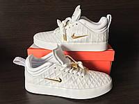 Кроссовки Nike Tiempo Vetta White & Metallic gold (топ реплика)