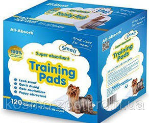 Пелёнки для собак All-Absorb Regular Training Pads 56х58см / 100 штук