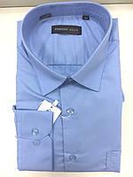 Темно-голубая рубашка FERRERO GIZZI (размеры 42.43.44.46)