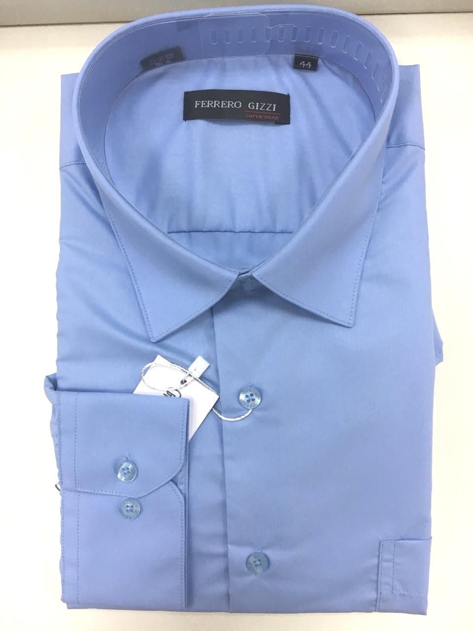 a91a6316b076 Темно-голубая рубашка FERRERO GIZZI (размеры 41.46 + под заказ)