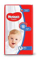 Підгузники дитячі Huggies Classic (4) від 7-18 кг 50 шт