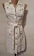 Летнее платье-сафари белое Kleo стрейч коттон, фото 1