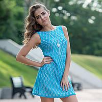 """Голубое гипюровое платье """"Флоренция"""""""
