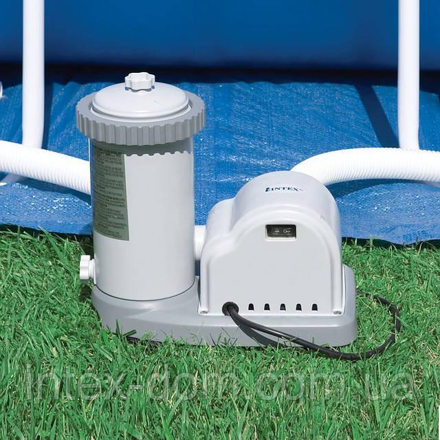 Фильтрующий насос Intex 56634/28634 Filter Pump (производительность 9462 л|ч) + сменный фильтр  киев