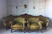 Комплект мягкой мебели: угловой диван и два кресла
