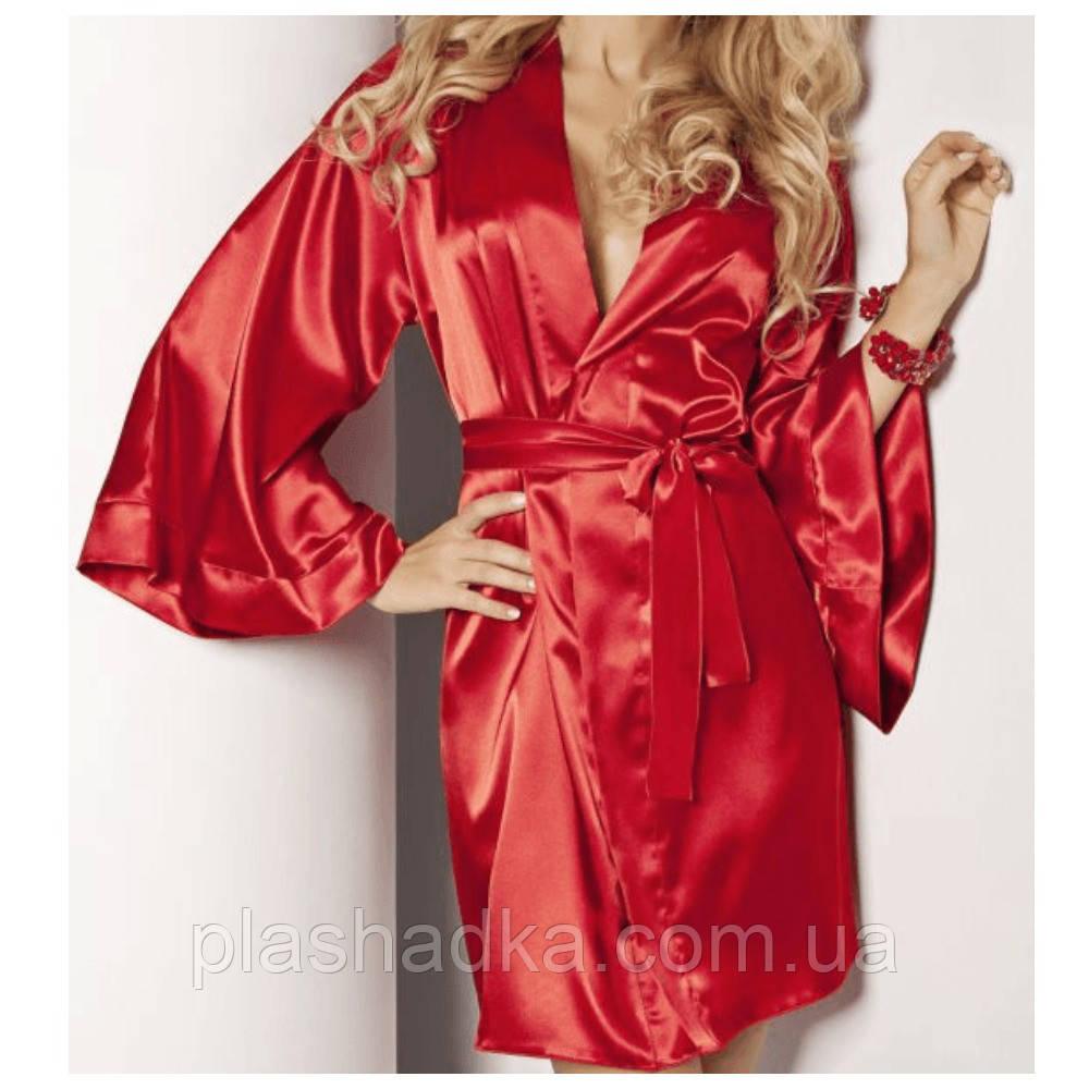 Сатиновый халат Candy DKaren, красный