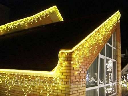Новогоднее оформление дома, световая бахрома 3х0,5 м