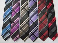 Шёлковый узкий галстук