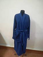 Махровый мужской халат синего цвета (XXL), фото 1