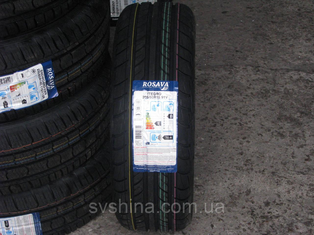 Літні шини 205/60R15 Росава ITEGRO, 91V
