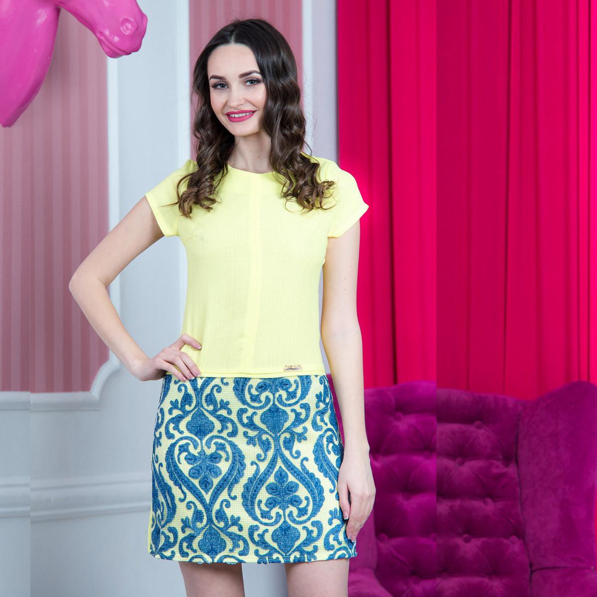 "Короткое желтое платье летнее ""Алиса люкс"""