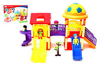 Домик 326-532  игровой центр с куколками,горками,в коробке
