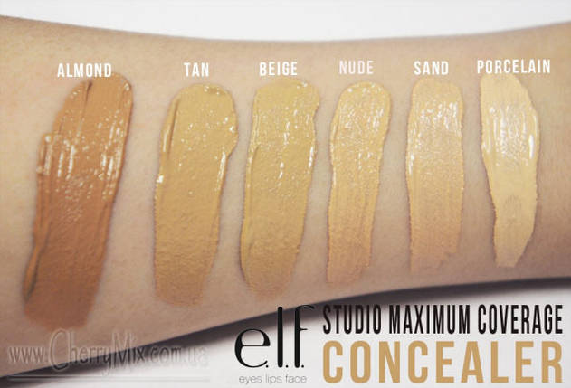 Жидкий консилер без масла e.l.f. Studio Maximum Coverage Concealer - Oil Free - NUDE, фото 2