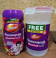 Чаванпраш Mixed Fruit Dabur Индия + контейнер: укрепление иммунитета, защитные свойства организма,энергия! 500
