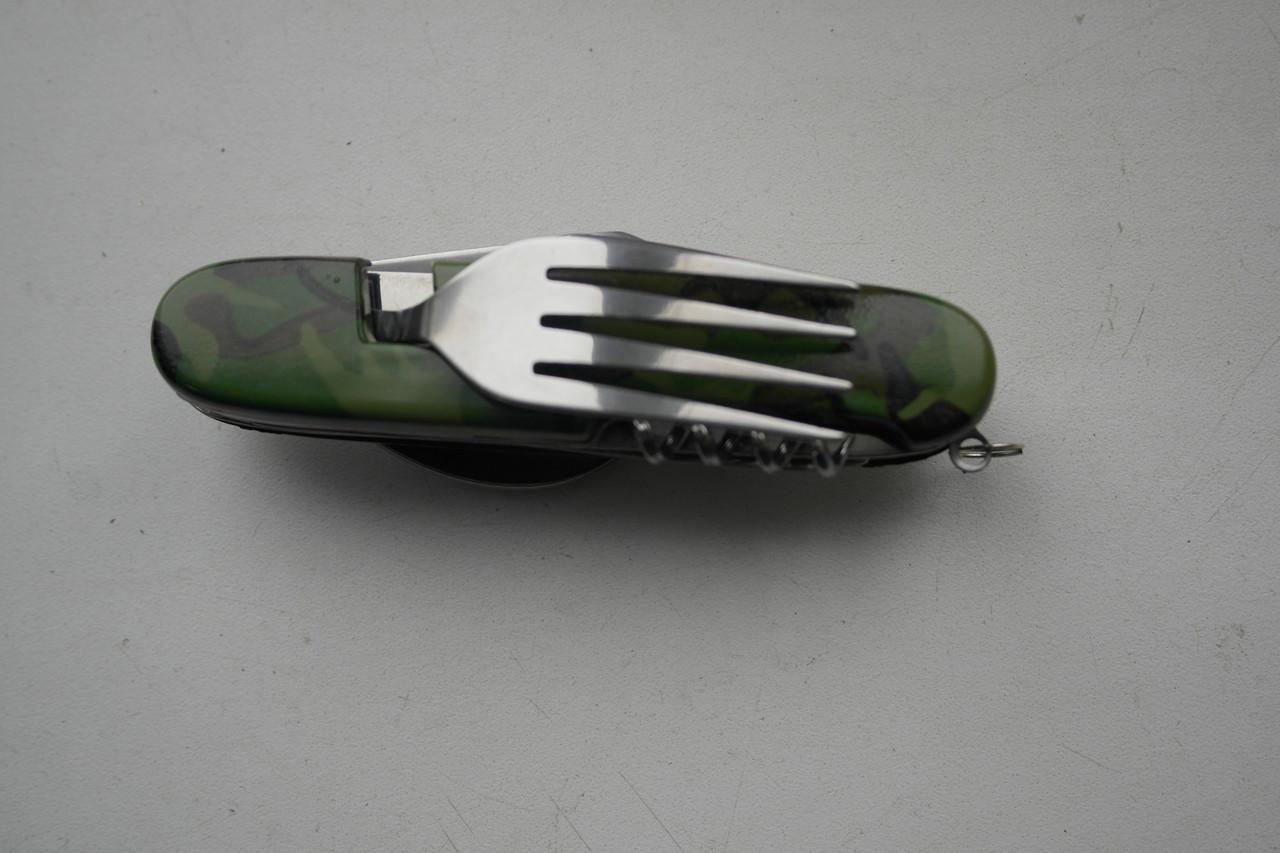 Набор туриста 4 в 1,  (нож многофункц., вилка, ложка)