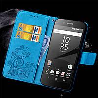 Чехол Clover для Sony Xperia XA1 / G3112 / G3116 / G3121 / G3125 / G3123 Книжка кожа PU голубой