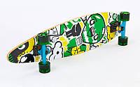 Лонгборд-круизер (скейтборд в сборе) (р-р деки 86x22 см)