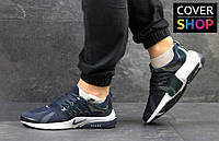 Кроссовки мужские Nike Air Presto, материал - сетка, цвет - темно-синий с белым