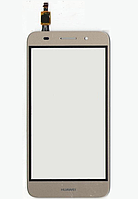 Оригинальный тачскрин / сенсор (сенсорное стекло) для Huawei Y3 2017 | Y5 Lite 2017 (золотой цвет)