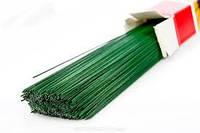 Проволока флористическая зеленая 1 мм, фото 1