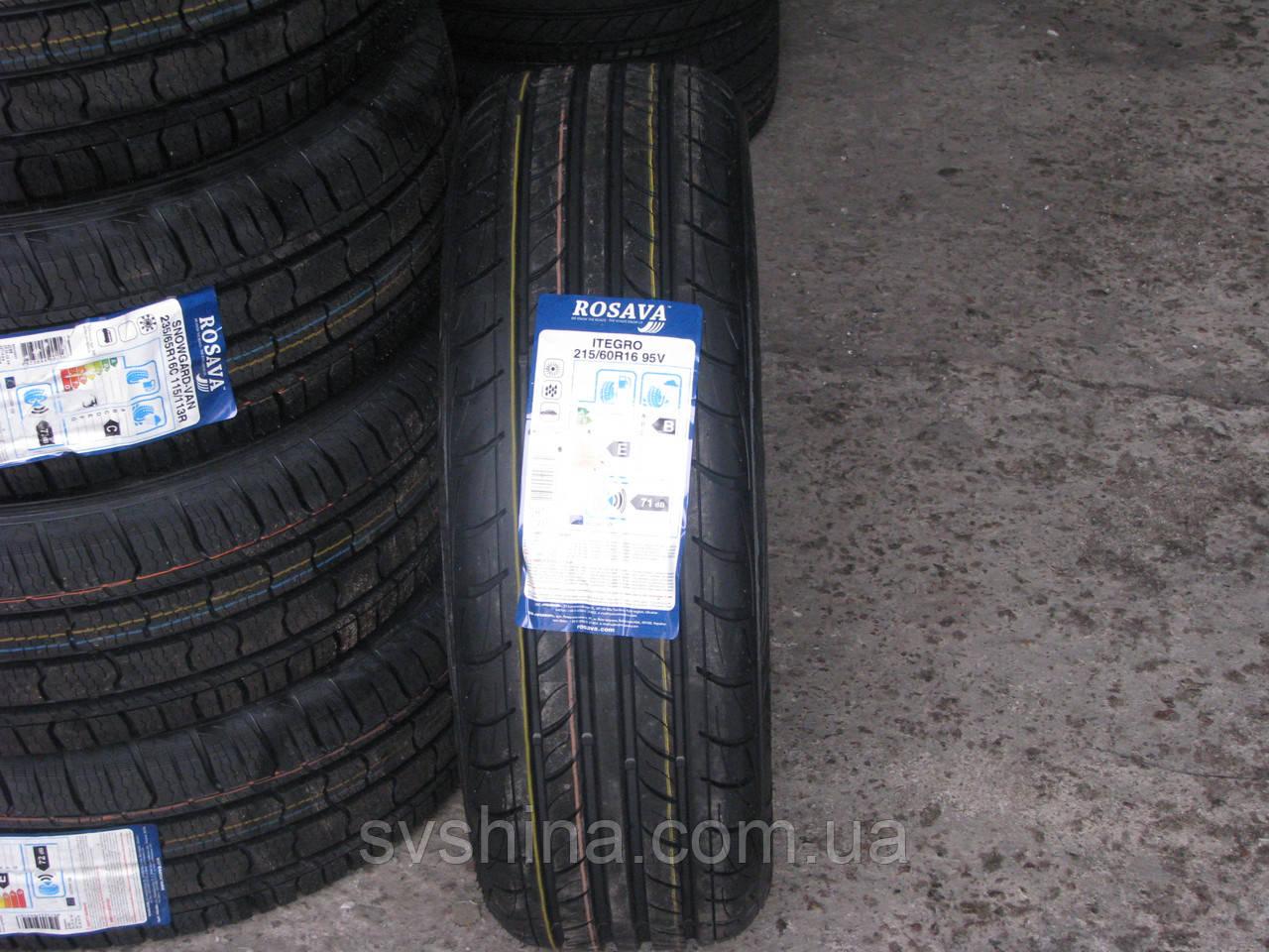 Літні шини 215/60R16 Росава ITEGRO, 95V