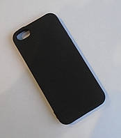 Матовый Чехол бампер softcase iphone 5 5S черный