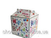 Подарочная коробка День рождения складная 34х28х28 см