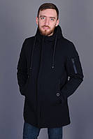 Стильная мужская демисезонная черная куртка