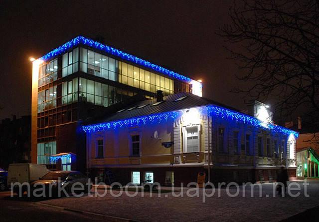 Новогоднее оформление зданий, светодиодные гирлянды