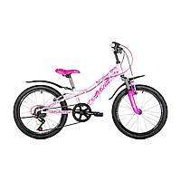"""Детский велосипед Avanti Super Girl 20"""" бело-розовый"""