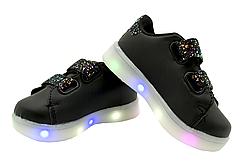 Светящиеся детские кроссовки LED 19-24 размер 24