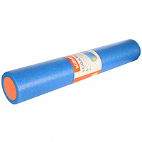Роллер для занятий йогой гладкий (90x15 cм) blue+orange