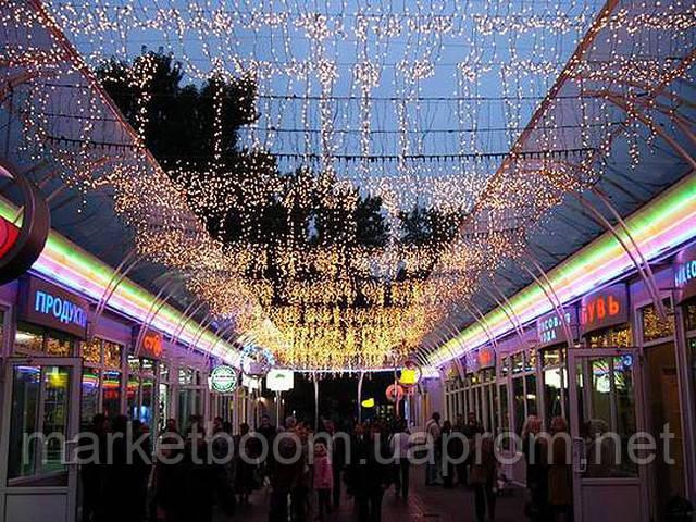Гирлянда бахрома, новогоднее оформление улиц