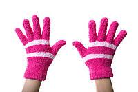 Теплые детские рукавички Розовые 8-12 лет.