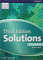 Solutions 3rd Edition Elementary Student's Book (Учебник)