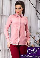 Стильная женская блуза цвета пудра с камнями (р. S, M, L, XL) арт.12878