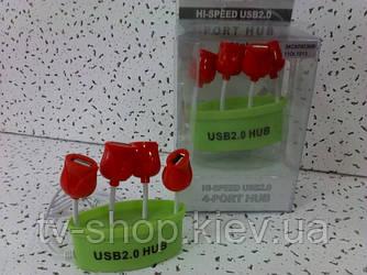 Хаб на 4 USB Тюльпаны