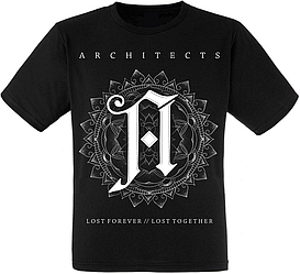 """Футболка Architects """"Lost Forever // Lost Together"""" (God only knows why we were born to burn)"""
