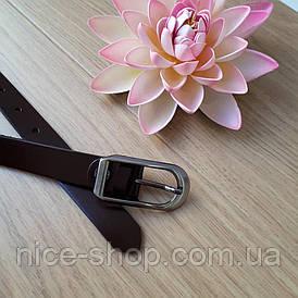 Ремень кожаный узкий Rives,коричневый