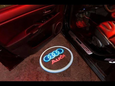 Подсветка логотипа авто на двери AUDI