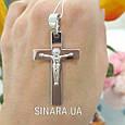Нательный крест из серебра с распятием - Серебряный крестик мужской, фото 7