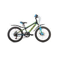 """Детский велосипед Avanti Super Boy Disk 20"""" черно-зеленый"""